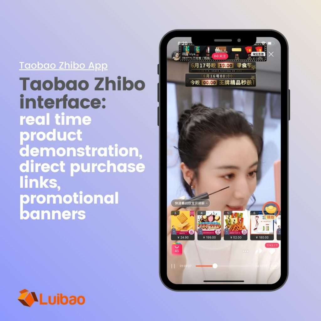 Taobao launched its living streaming function, Zhibo, which has become one of the top channel to bring sales revenue