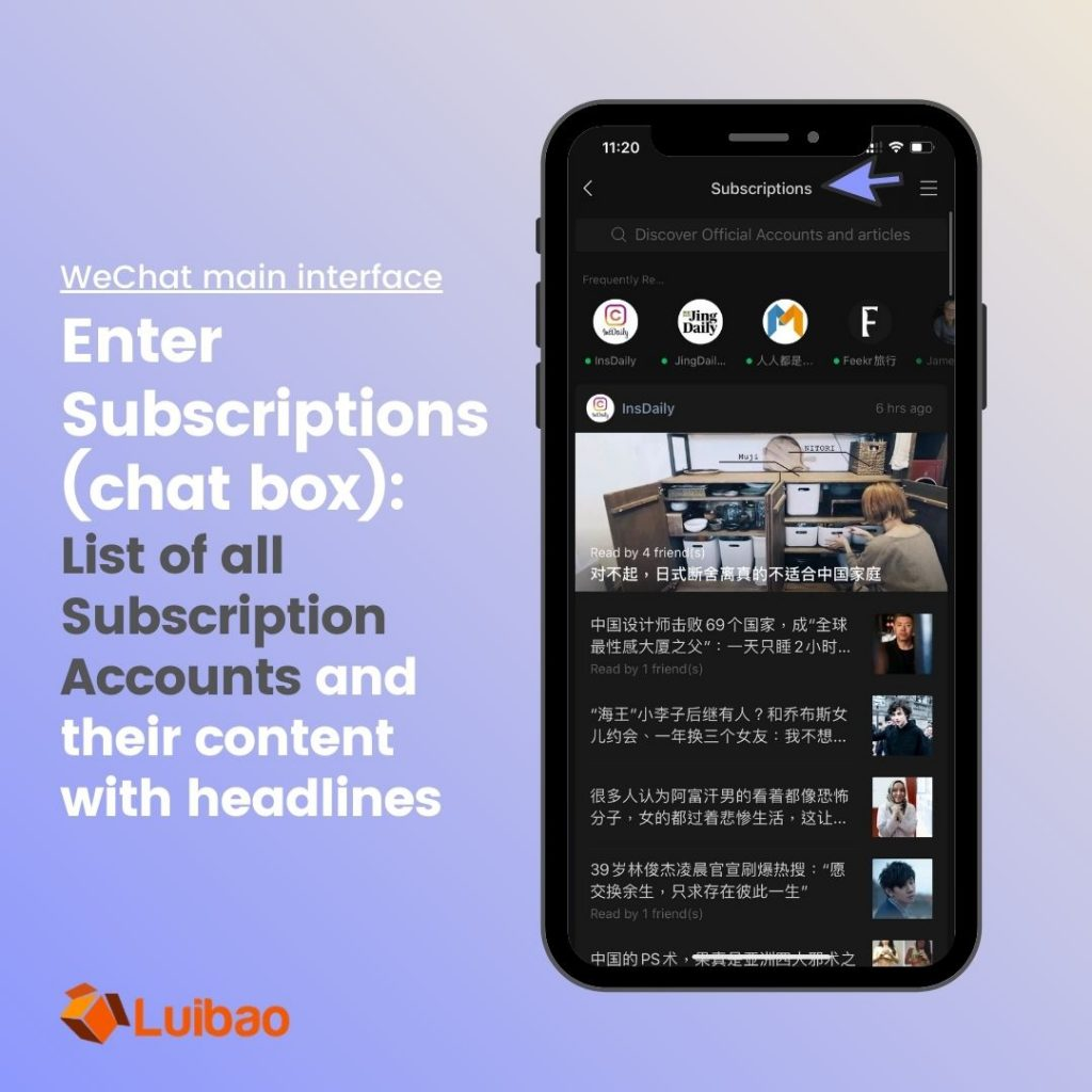 wechat official subscription account is more for medias and content-oriented companies and it is not open to overseas company to apply