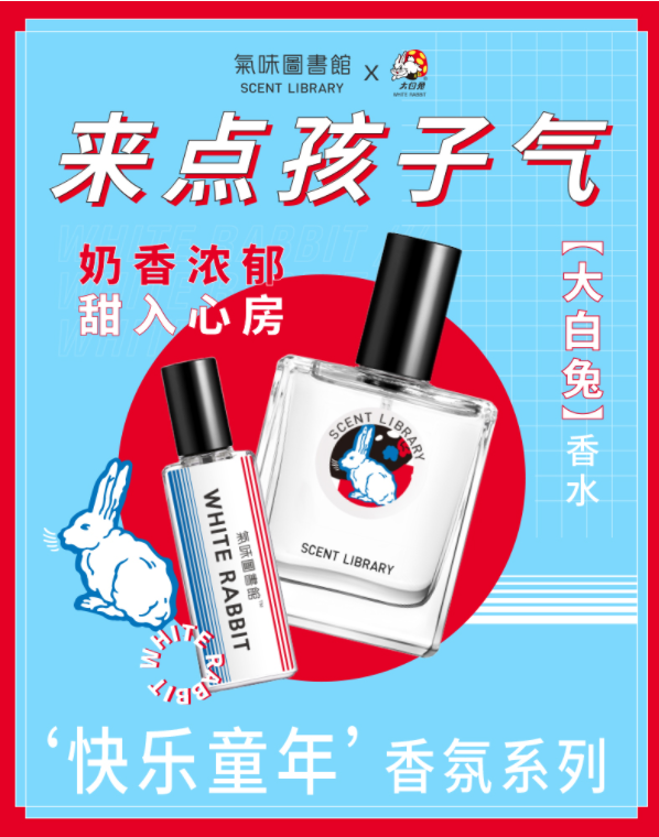 Scent library cross-branded with Little Rabbit is a successful case for domestic cross branding and marketing in China